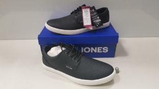 7 X BRAND NEW JACK & JONES ANTHRACITE TRAINERS UK SIZE 9 RRP £35.00 (TOTAL RRP £245.00) (PICK