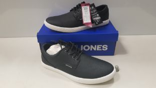 8 X BRAND NEW JACK & JONES ANTHRACITE TRAINERS UK SIZE 9 RRP £35.00 (TOTAL RRP £280.00) (PICK