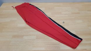 11 X BRAND NEW JACK WILLS GLENBROOK RED TRACKPANTS SIZE 10 RRP £49.95 (TOTAL RRP £549.45)
