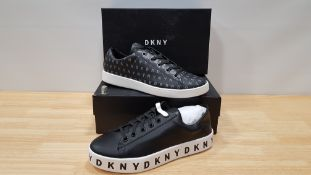 4 PIECE MIXED DKNY TRAINER LOT CONTAINING 2 X BINNA LACE UP SNAEAKERS AND 2 X BANCON LACE UP