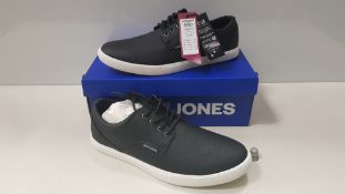 7 X BRAND NEW JACK & JONES ANTHRACITE TRAINERS UK SIZE 10 AND 11 RRP £35.00 (TOTAL RRP £245.00) (