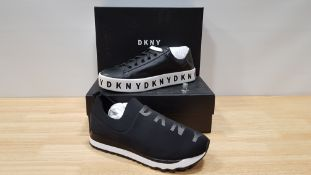 4 PIECE MIXED DKNY TRAINER LOT CONTAINING 2 X BANSON LACE UP SNAEAKERS AND 2 X JADYN SLIP ON JOGGING