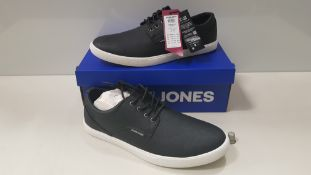 6 X BRAND NEW JACK & JONES ANTHRACITE TRAINERS UK SIZE 11 AND 12 RRP £35.00 (TOTAL RRP £210.00) (