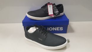 7 X BRAND NEW JACK & JONES ANTHRACITE TRAINERS UK SIZE 10 RRP £35.00 (TOTAL RRP £245.00) (PICK