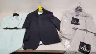 3 X BRAND NEW GENTS SUITS - PETER VAN HOLLAND SIZE 50, 2 X 4-YOU SIZE 50