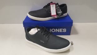 7 X BRAND NEW JACK & JONES ANTHRACITE TRAINERS UK SIZE 7 RRP £35.00 (TOTAL RRP £245.00) (PICK