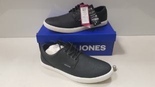 7 X BRAND NEW JACK & JONES ANTHRACITE TRAINERS UK SIZE 6 AND 7 RRP £35.00 (TOTAL RRP £245.00) (