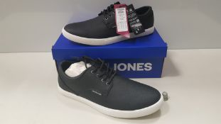7 X BRAND NEW JACK & JONES ANTHRACITE TRAINERS UK SIZE 8 AND 9 RRP £35.00 (TOTAL RRP £245.00)