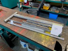 SELECTION OF MIXED METALS TO INCLUDE THOMPSON ROD, D2, PHOSPHOR BRONZE & STEEL ALLOY 53