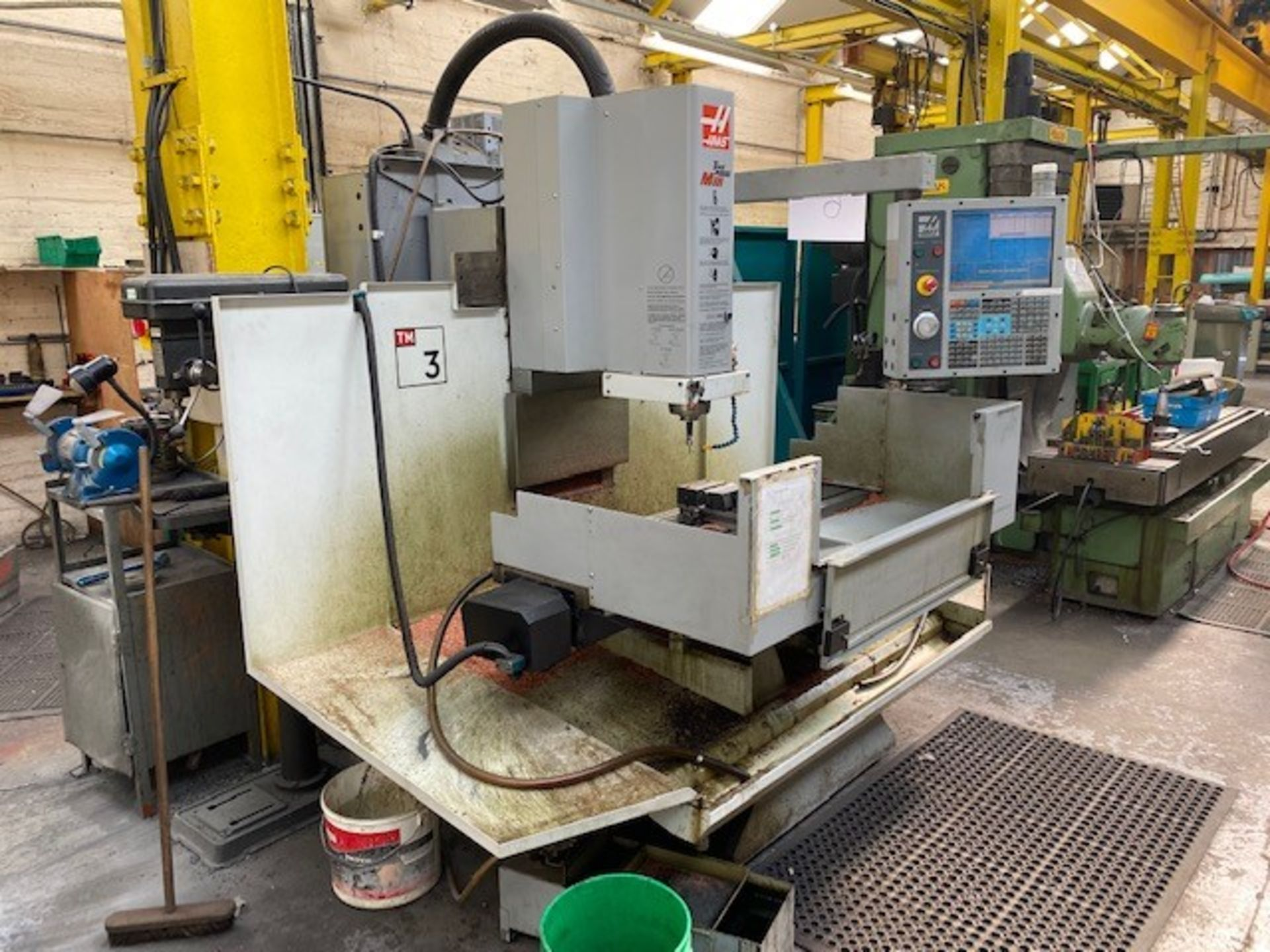 HASS CNC VERTICAL MACHINING CENTRE MODEL: TM-3CE SERIAL No: 1069469 DOM: 07/08 TO INCLUDE MANUALS - Image 3 of 5