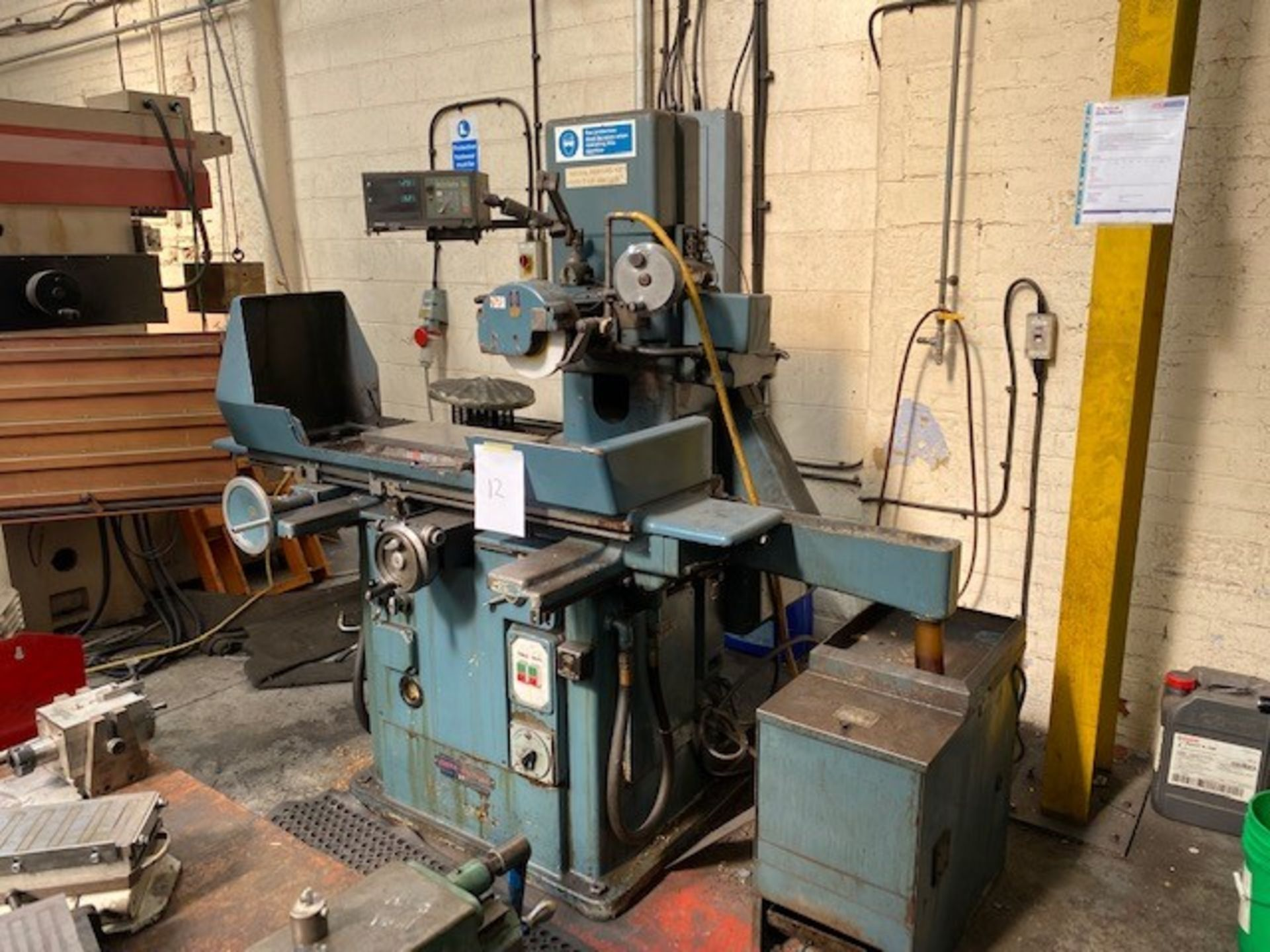 JONES AND SHIPMAN HORIZONTAL SPINDLE SURFACE GRINDING MACHINE WITH MAGNETIC BED AND MITUTOYO MEASURE - Image 2 of 2