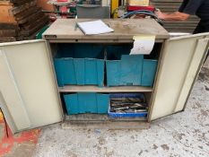 METAL CABINET WITH SELECTION OF LARGE DRILL BITS