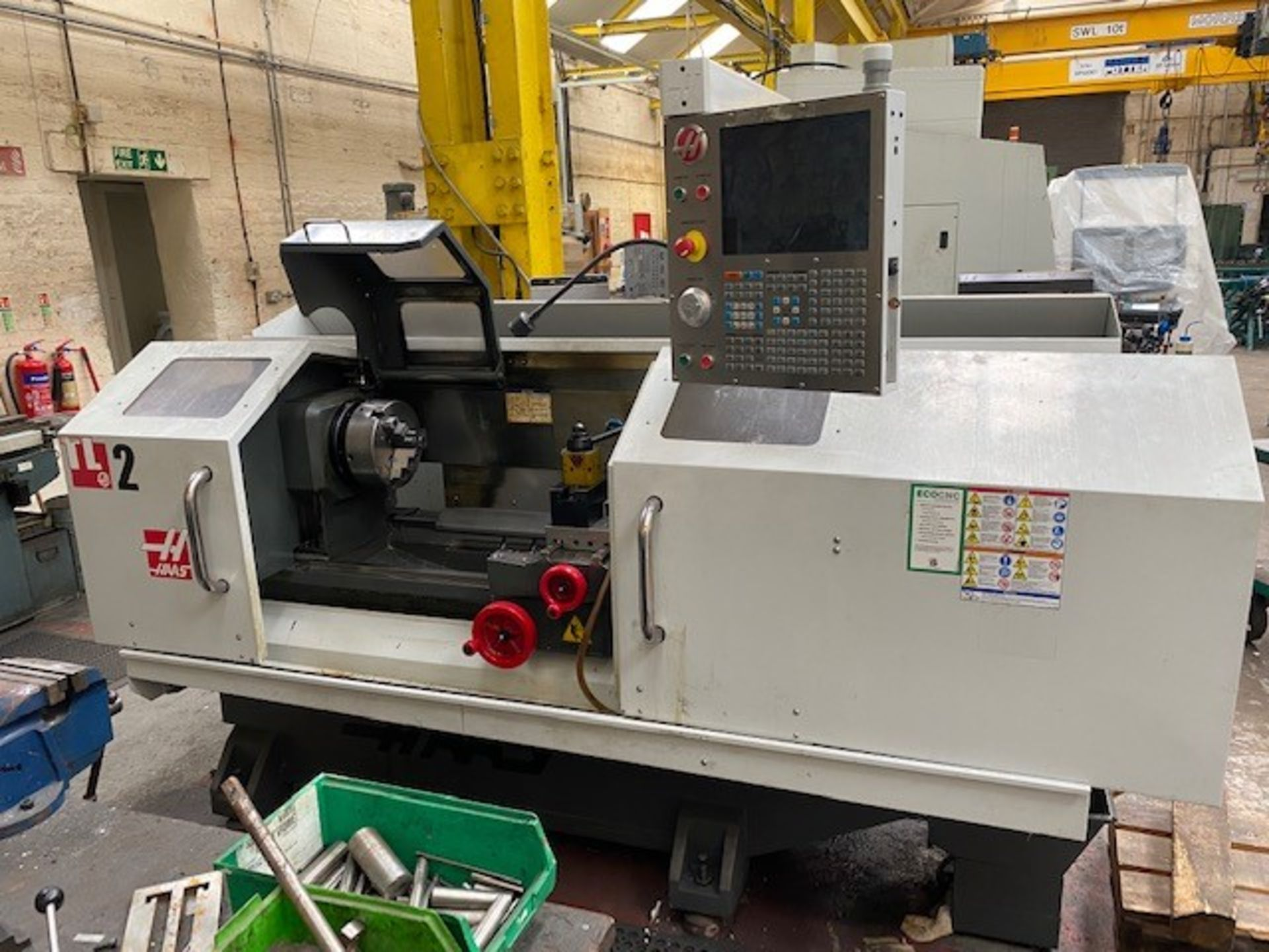 HASS ENCLOSED 2-AXIS CNC TOOLROOM LATHE WITH HASS CONTROLLER MODEL: TL-2 SERIAL NO: 3089388 DMF: