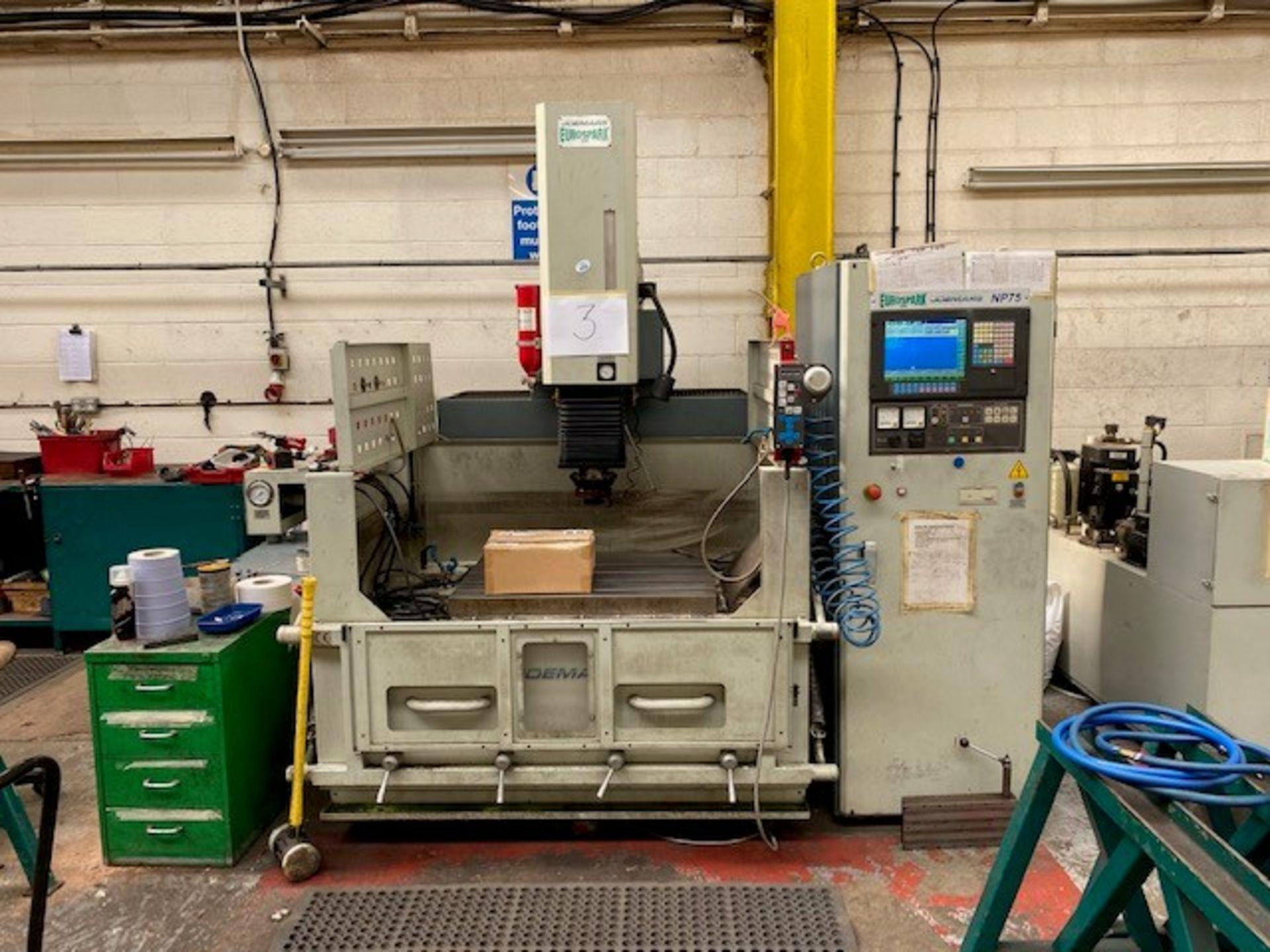 JOEMARS EURO SPARK EROSION CNC/EDM MACHINE WITH JOEMARS NP75 CONTROLLER MODEL: JMNC60 SERIAL No: