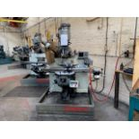 BRIDGEPORT MILLING MACHINE WITH HEIDENHAINS MEASURE TO INCLUDE COLLITS AND VICE DIGITAL HEAD CUT