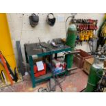 KEMPPI MASTER 1500 DC TIG WELDER TO INCLUDE WORKBENCH AND CONTENTS
