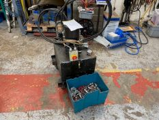 MOBILE HYDRAULIC POWER PACK, STAUBLI EXTENDER & ASSORTED HYDRAULIC FITTINGS