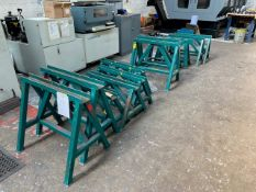 8 X SETS OF STEEL WORK TRESTLES