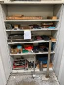 CONTAINED WITHIN METAL CABINET LARGE SELECTION OF ASSORTED MEASURING EQUIPMENT