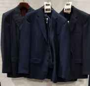 3 X BRAND NEW LUTWYCHE 2 PC DARK BLUE SHADES MATCHING SUITS SIZES 44R, 40, 42R (NOTE NOT FULLY