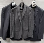 3 X BRAND NEW LUTWYCHE 2 PC GREY SHADES MATCHING SUITS SIZES 46R, 48R, 38R (NOTE NOT FULLY
