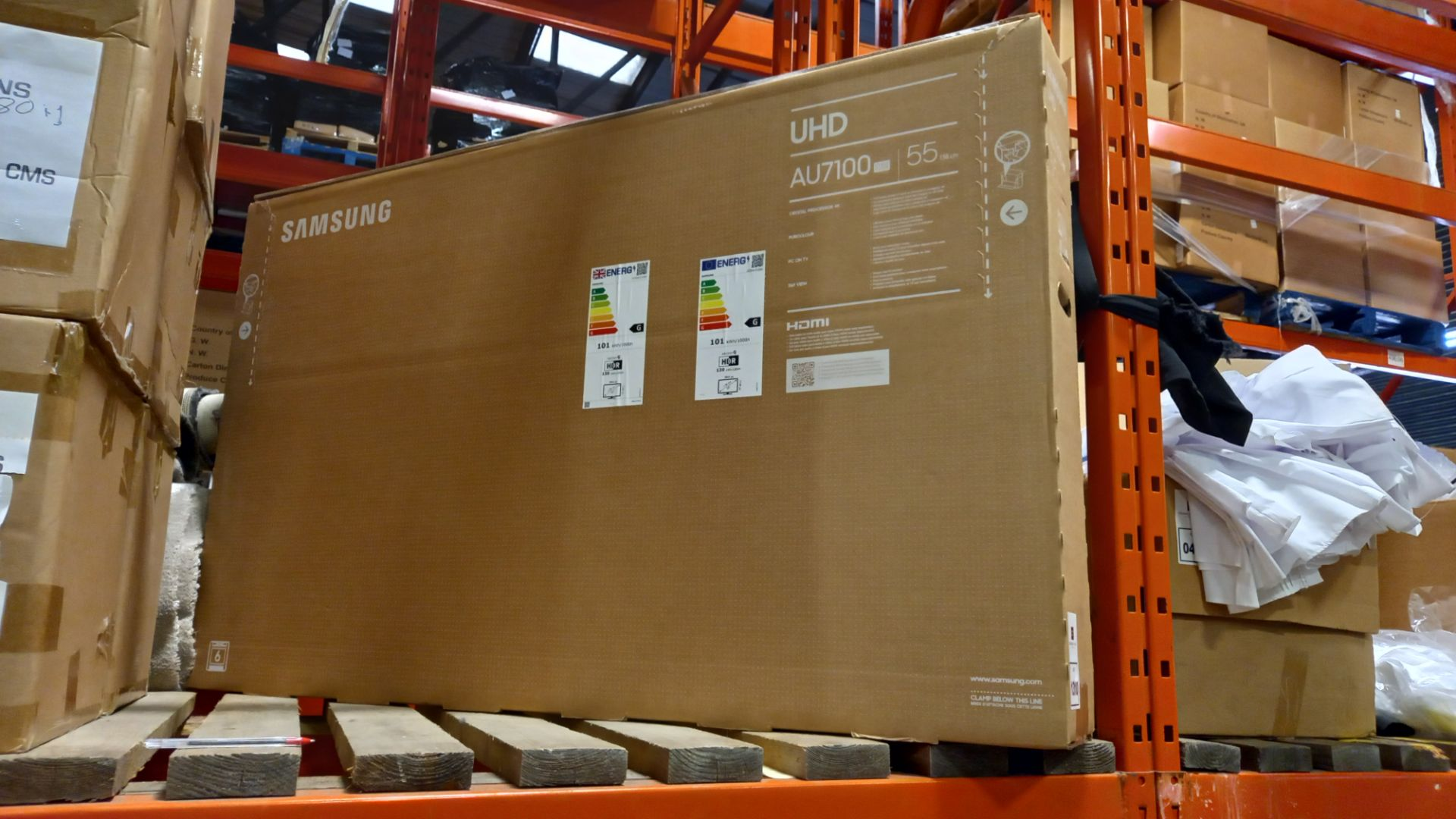 1 X BRAND NEW SAMSUNG UHD 55 TV (AU7100)