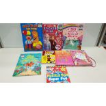 APPROX 200+ ASSORTED BRAND NEW BOOK LOT CONTAINING THE ULTIMATE JOKE BOOK, PUZZLE FUN SUPERBAD, MY