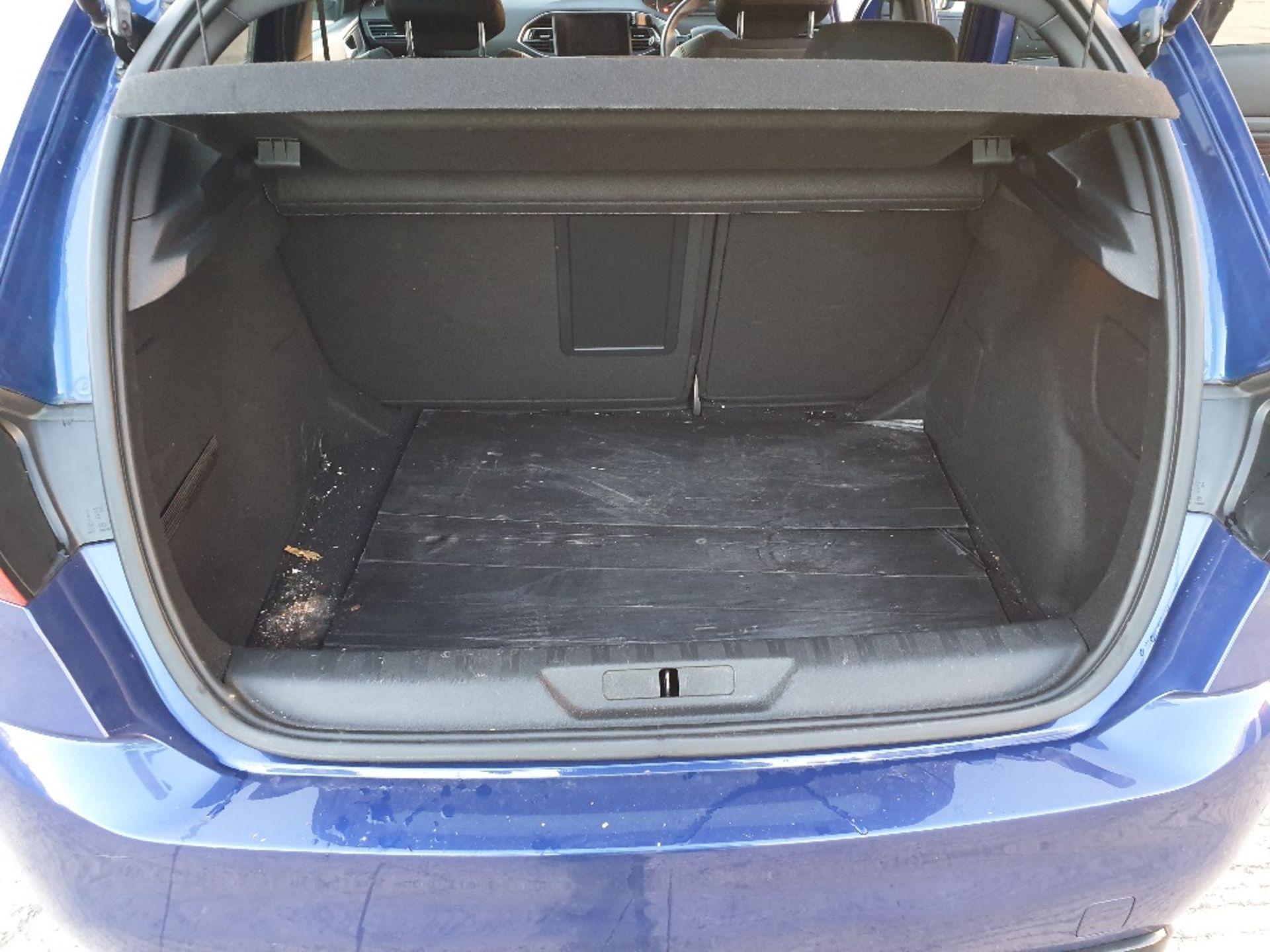 BLUE PEUGEOT 308 GT LINE. Reg : MJ66 UCN, Mileage : 14470 Details: WITH 2 X KEYS WITH V5 MOT UNTIL - Image 9 of 12