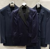 3 X BRAND NEW LUTWYCHE 2 PC DARK BLUE SHADES MATCHING SUITS SIZES 44R, 42R, 39R (NOTE NOT FULLY