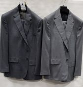 3 X BRAND NEW LUTWYCHE 2 PC GREY SHADES MATCHING SUITS SIZES 44R, 44R, 44R (NOTE NOT FULLY