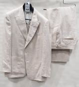 4 X BRAND NEW LUTWYCHE CREAM & BROWN JACKETS SIZES 46R, 44R, 42R, 40R - WITH TROUSERS & WAISTCOAT