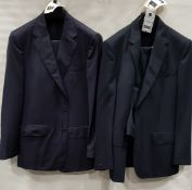 3 X BRAND NEW LUTWYCHE 2 PC DARK BLUE SHADES MATCHING SUITS SIZES 44R, 42R, 44R (NOTE NOT FULLY