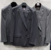 3 X BRAND NEW LUTWYCHE 2 PC GREY SHADES MATCHING SUITS SIZES 50R, 44R, 46R (NOTE NOT FULLY