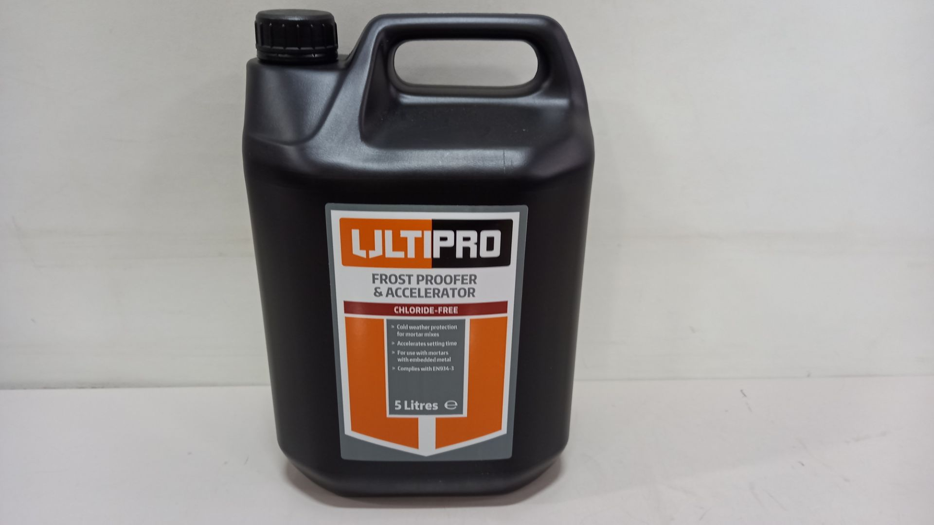 60 X BRAND NEW ULTIPRO FROST PROOFER & ACCELERATOR (5LITRES) - IN 15 BOXES