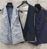 13 X BRAND NEW WAISTCOATS BY VARIOUS DESIGNERS INCLUDING LUTWYCHE, GRIEVES & HAWKES - IN ASST