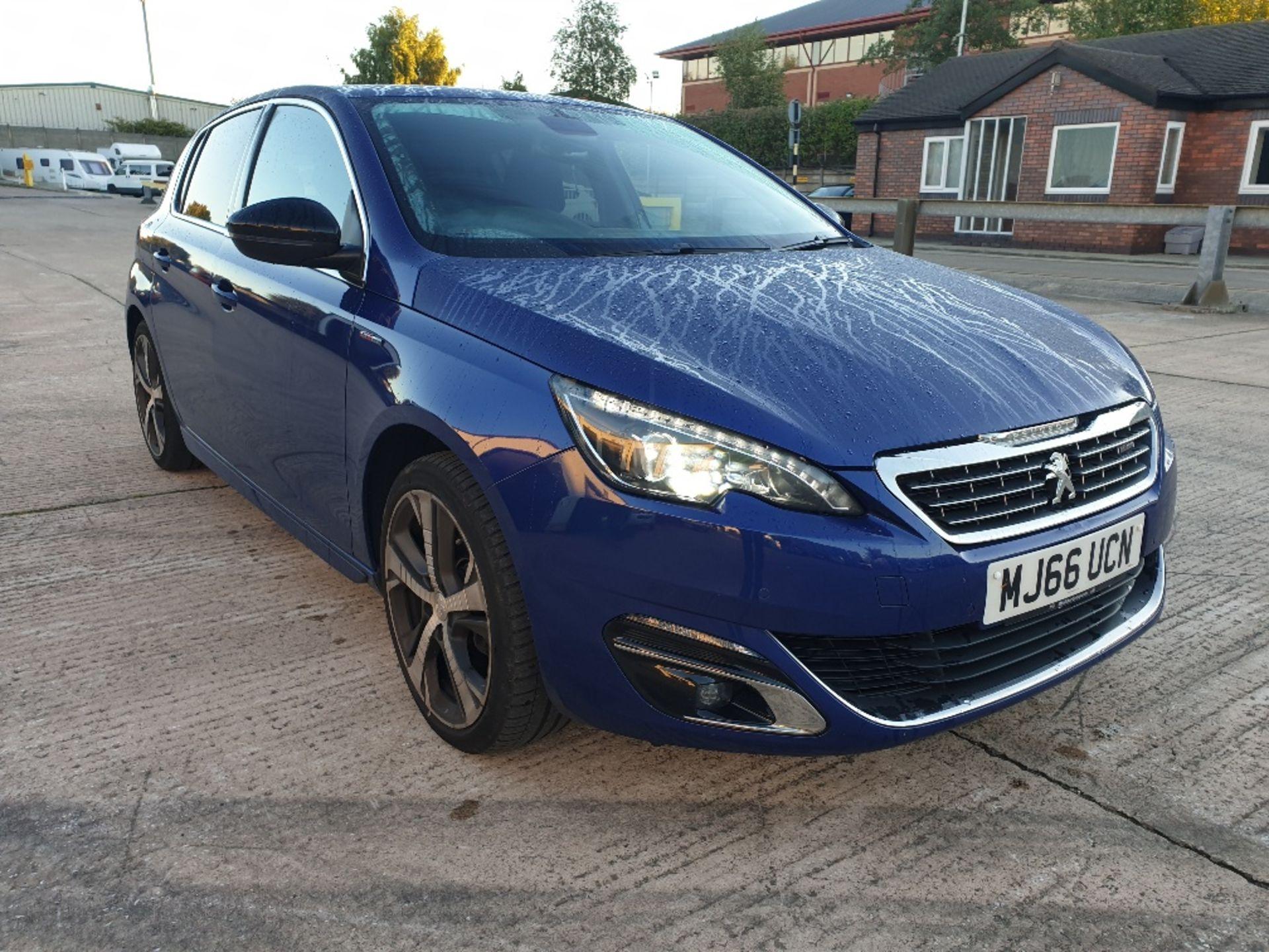 BLUE PEUGEOT 308 GT LINE. Reg : MJ66 UCN, Mileage : 14470 Details: WITH 2 X KEYS WITH V5 MOT UNTIL