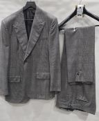 4 X BRAND NEW LUTWYCHE 2 PC BLACK & WHITE CHECK MATCHING SUITS SIZES 44R, 40R, 38R, 36R (NOTE NOT