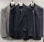 3 X BRAND NEW LUTWYCHE 2 PC GREY SHADES MATCHING SUITS SIZES 46R, 42S, 40L (NOTE NOT FULLY
