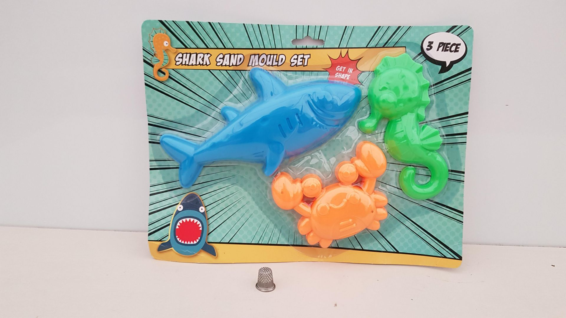 126 X BRAND NEW BOXED SAND MOULD SET (SHARK, CRAB AND SEAHORSE) - IN 9 BOXES