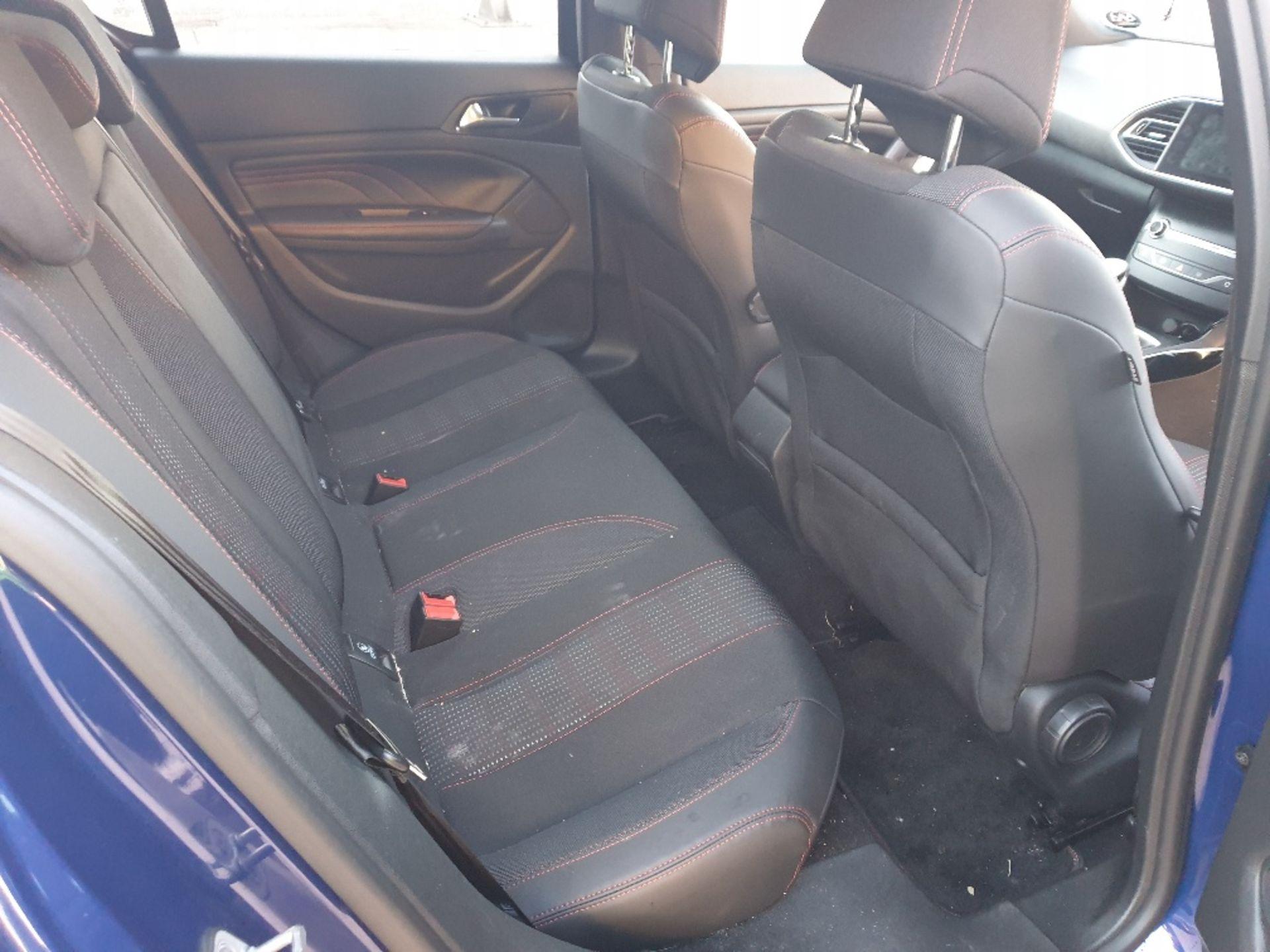 BLUE PEUGEOT 308 GT LINE. Reg : MJ66 UCN, Mileage : 14470 Details: WITH 2 X KEYS WITH V5 MOT UNTIL - Image 8 of 12