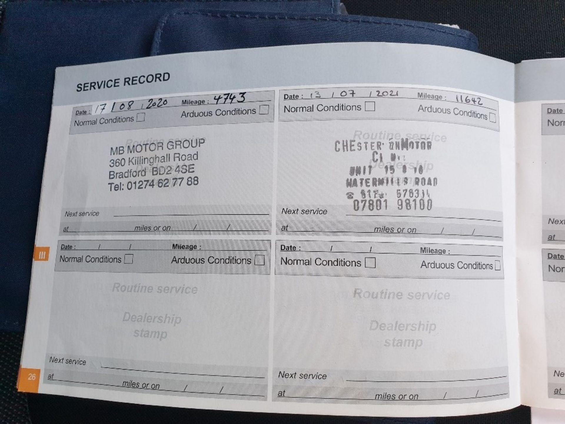 BLUE PEUGEOT 308 GT LINE. Reg : MJ66 UCN, Mileage : 14470 Details: WITH 2 X KEYS WITH V5 MOT UNTIL - Image 12 of 12