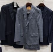 3 X BRAND NEW LUTWYCHE 2 PC DARK BLUE SHADES MATCHING SUITS SIZES 41L, 50R, 42R (NOTE NOT FULLY
