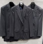 3 X BRAND NEW LUTWYCHE 2 PC GREY SHADES MATCHING SUITS SIZES 40R, 40R, 44R (NOTE NOT FULLY