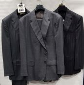 3 X BRAND NEW LUTWYCHE 2 PC GREY SHADES MATCHING SUITS SIZES 44L,52R, 42R (NOTE NOT FULLY TAILORED)