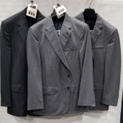 3 X BRAND NEW LUTWYCHE 2 PC GREY SHADES MATCHING SUITS SIZES 46R, 40R, 46L (NOTE NOT FULLY