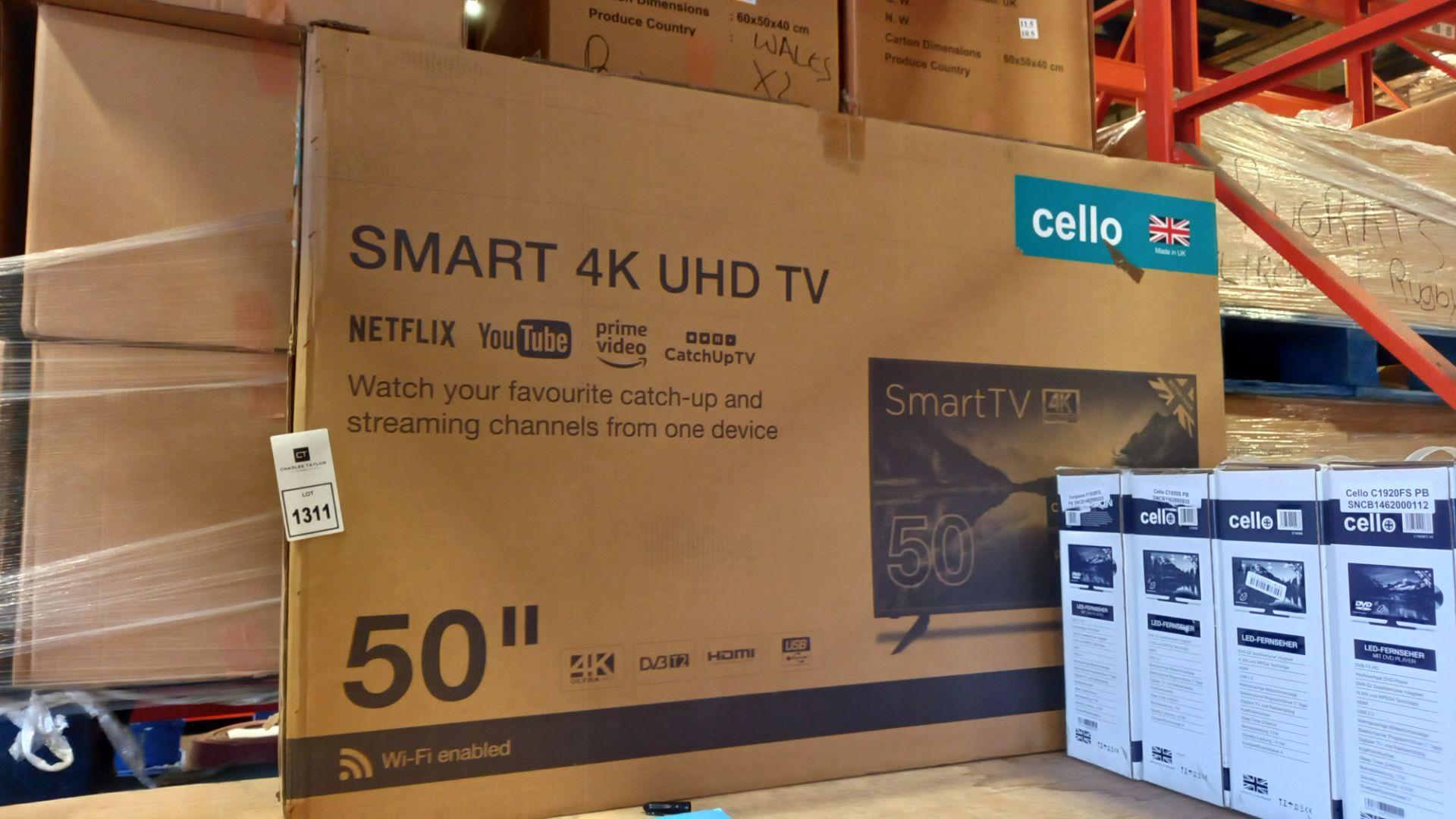 1 X BRAND NEW CELLO SMART 4K UHD 50 TV