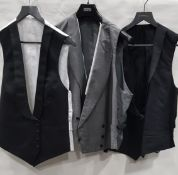 13 X BRAND NEW WAISTCOATS BY VARIOUS DESIGNERS INCLUDING LUTWYCHE, GRIEVES & HAWKES - BLACK,