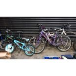 5 PIECE ASSORTED BIKE LOT CONTAINING 2 X CHILDRENS (COMMANDO BUMBER AND ACE WING) AND 3 X ADULT