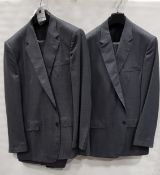 3 X BRAND NEW LUTWYCHE 2 PC GREY SHADES MATCHING SUITS SIZES 48L,48R,48R (NOTE NOT FULLY TAILORED)