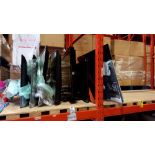 8 X VARIOUS TVS FOR SPARES (ALL SCREENS DAMAGED)